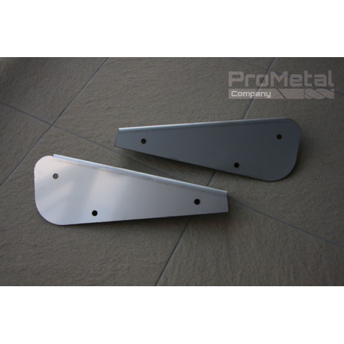 stainless steel rear mudflap brackets for the D90
